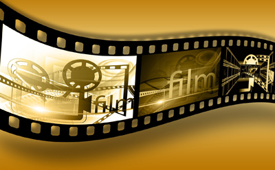 Film Strip with Movie Projector